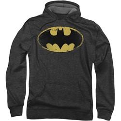 Batman - Mens Distressed Shield Hoodie
