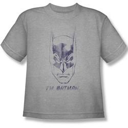 Batman - I'M Batman Big Boys T-Shirt In Heather