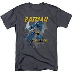 Batman - Urban Gothic Adult T-Shirt In Charcoal