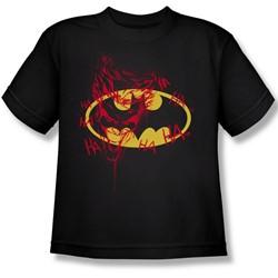 Batman - Joker Graffiti Big Boys T-Shirt In Black