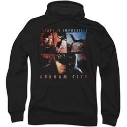 Batman: Arkham City - Mens Escape Is Impossible Hoodie