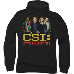 Csi:Miami - Mens The Cast In Black Hoodie