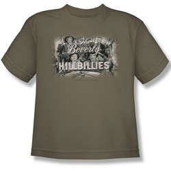 Cbs - Beverly Hillbillies / Beverly Hillbillies Logo Big Boys T-Shirt In Safari Green