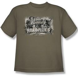Cbs - Beverly Hillbillies / Beverly Hillbillies Logo Big Boys T-Shirt In Safari Green
