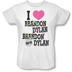 Cbs - Beverly Hills 90210 / I Heart 90210 Womens T-Shirt In White