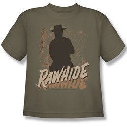 Cbs - Rawhide Big Boys T-Shirt In Safari Green