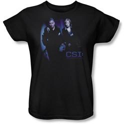 Cbs - Csi / At The Scene Womens T-Shirt In Black