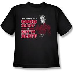 Cbs - Ncis / No Bluffing Big Boys T-Shirt In Black