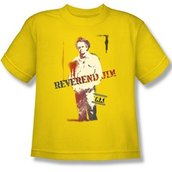 Cbs - Taxi / Reverend Jim Big Boys T-Shirt In Yellow