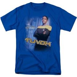 Star Trek - St: Voyager / Tuvok Adult T-Shirt In Royal Blue
