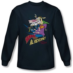Cow & Chicken - Mens Super Cow Longsleeve T-Shirt