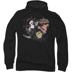 Billy & Mandy - Mens Splatter Cast Hoodie