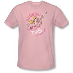 Dexter's Laboratory - Mens Button Slim Fit T-Shirt