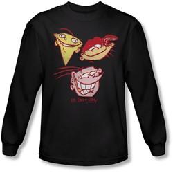 Ed Edd Eddy - Mens Three Heads Longsleeve T-Shirt