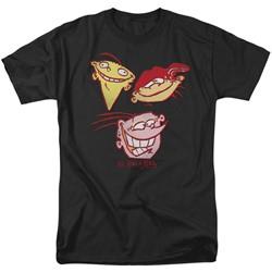 Ed Edd Eddy - Mens Three Heads T-Shirt