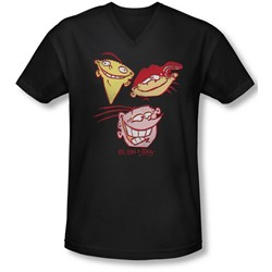 Ed Edd Eddy - Mens Three Heads V-Neck T-Shirt