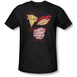 Ed Edd Eddy - Mens Three Heads Slim Fit T-Shirt