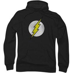 Dc Comics - Mens Flash Logo Distressed Hoodie