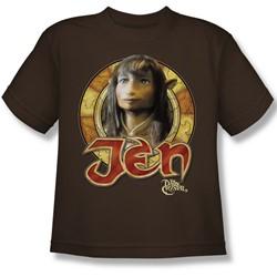 The Dark Crystal - Jen Circle Big Boys T-Shirt In Coffee