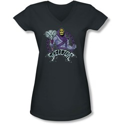 Masters Of The Universe - Juniors Skeletor V-Neck T-Shirt