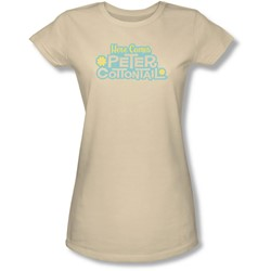 Here Comes Peter Cottontail - Juniors Logo Sheer T-Shirt
