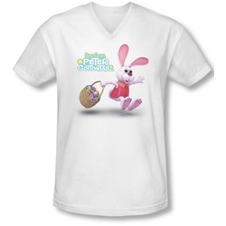 Here Comes Peter Cottontail - Mens Hop Around V-Neck T-Shirt