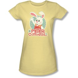 Here Comes Petter Cottontail - Juniors Peter Wave Sheer T-Shirt