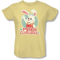 Here Comes Petter Cottontail - Womens Peter Wave T-Shirt