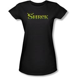 Shrek - Juniors Logo Sheer T-Shirt