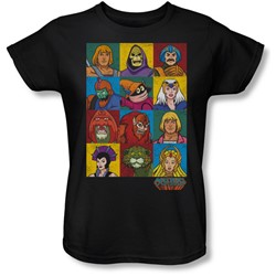 Masters Of The Universe - Womens Character Heads T-Shirt
