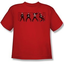 Elvis - Jailhouse Rock Youth T-Shirt In Red