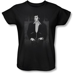 Elvis - Just Cool Womens T-Shirt In Black
