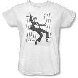 Elvis - Jailhouse Rock Womens T-Shirt In White