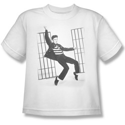 Elvis - Jailhouse Rock Big Boys T-Shirt In White