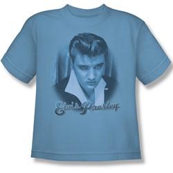 Elvis - Blue Suede Fade Big Boys T-Shirt In Carolina Blue