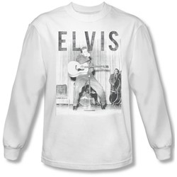Elvis Presley - Mens With The Band Longsleeve T-Shirt