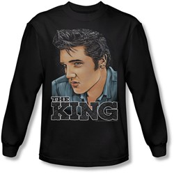 Elvis Presley - Mens Graphic King Longsleeve T-Shirt