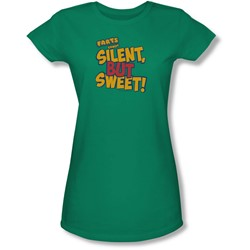 Farts Candy - Juniors Silent But Sweet Sheer T-Shirt