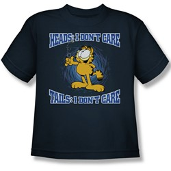 Garfield - Heads Or Tails Big Boys T-Shirt In Navy