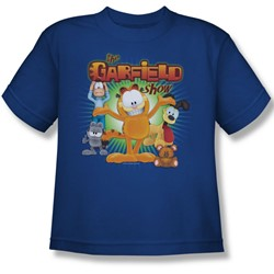 Garfield - The Garfield Show Big Boys T-Shirt In Royal Blue
