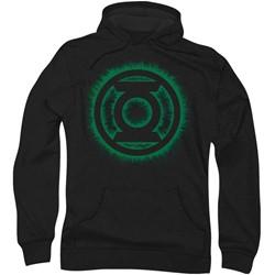 Green Lantern - Mens Green Flame Logo Hoodie