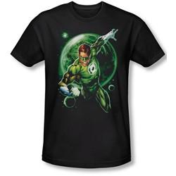 Green Lantern - Mens Galaxy Glow Slim Fit T-Shirt