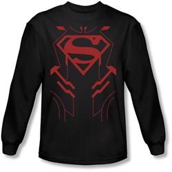 Justice League, The - Mens Superboy Longsleeve T-Shirt