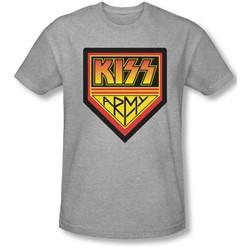 Kiss - Mens  Army Logo Slim Fit T-Shirt