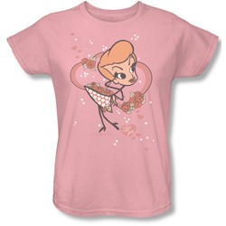 I Love Lucy - Fun Girl Womens T-Shirt In Pink