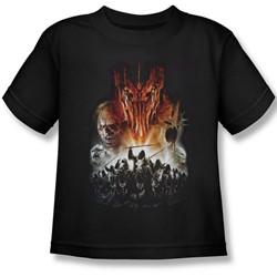 Lord Of The Rings - Evil Rising Juvenile Short Sleeve T-Shirt In Black