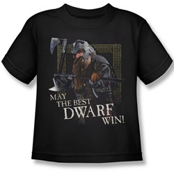 Lord Of The Rings - The Best Dwarf Juvenile Short Sleeve T-Shirt In Black