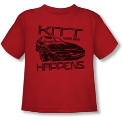 Nbc - Kitt Happens Toddlers T-Shirt In Red