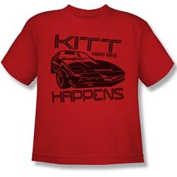 Nbc - Kitt Happens Big Boys T-Shirt In Red