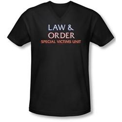 Law & Order: Special Victim's Unit - Mens Logo  V-Neck T-Shirt